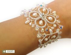 Illusion Wedding Bracelet - Handmade