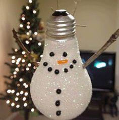 Save those lightbulbs! #Reuse them for handmade Christmas ornaments to keep the kiddos occupied #recycledornaments #kidsactivity