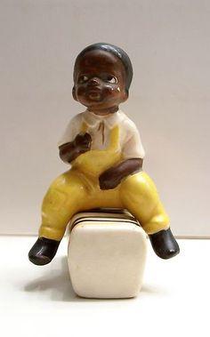 Vintage Black Americana Black Boy Sitting On Cotton Bale Salt & Pepper Shakers | eBay