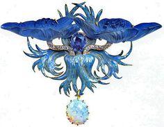 bejeweled lalique brooch