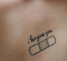 i forgive you-band-aid tattoo