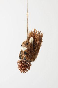 Pinecone Squirrel Ornament
