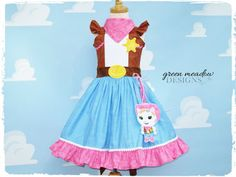 Sheriff Callie Character Dress by greenmeadowdesigns on Etsy, $185.00