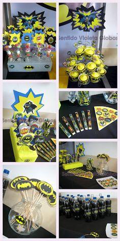 Mi fiesta de Batman, los dulces de la mesa...