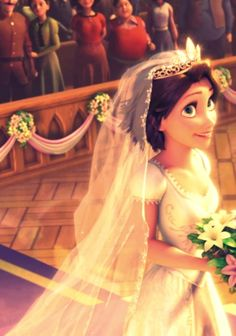 Rapunzel in her wedding dress. :)
