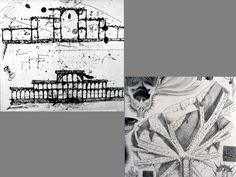 Joseph Paxton, Crystal Palace, London, 1851, initial design and detail   of Victoria Regina lily from below, thought to have been part of the   inspiration for the building