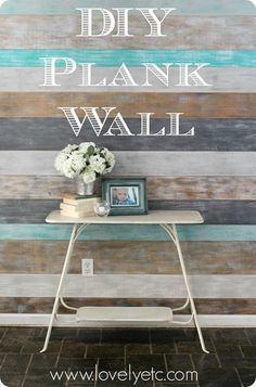 DIY Painted plank wall