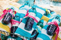 Great pool party favors #poolparty #partyfavors