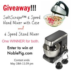 (Giveaway) Hamilton Beach 6-Speed Stand Mixer & Hamilton Beach 6-Speed Softscrape Hand Miver