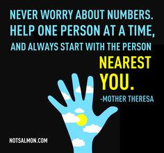 An Inspiring #Quote From #MotherTheresa #Health #Help