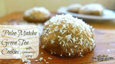 Paleo Matcha Green Tea Cookies with Cinnamon Icing - The Urban Ecolife