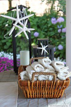 DIY Spa towels & candles