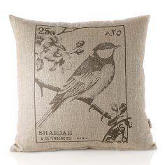 french cushion, bird decor, bird cushion, cushion covers, fabric design, divin decor, bird prints, cushions, birds