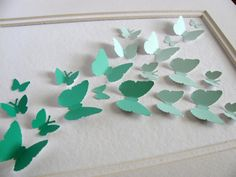 MInt Green Upcycled Paint Chips 3D...I want to do this