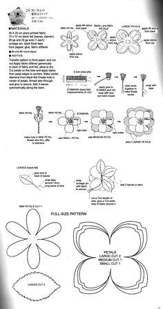 DIY Fabric Flower Patterns | Chic Steals