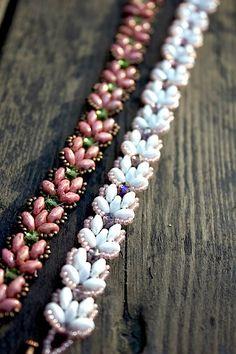 *P TUTORIAL  Lotus Chain beaded bracelet with Super by MadeByOlga, $10.00