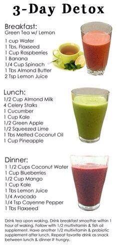 3 Day Detox #healthy #antiinflammatory