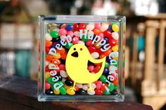 craft, easter goodi, easterspr, glass block, easter glass, cameo, gift idea, cricut, easter block