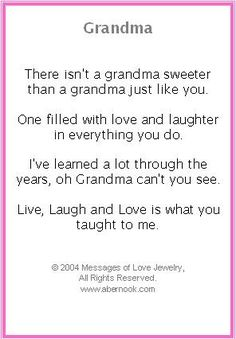 I Love You Grandma Quotes In Spanish : Love You Grandma Poems In Spanish Images & Pictures - Becuo