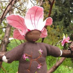 Waldorf Doll  Miss Peach Blossom  Made to Order by driaa on Etsy, $32.00