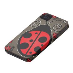 Cute Ladybugs iPhone 4 Case-Mate Tough