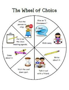 Once Upon a First Grade Adventure: Classroom Management - Freebies!  Wheel of Choice, Individual Modified Behavior Plan, and Cool Down Spot Poster