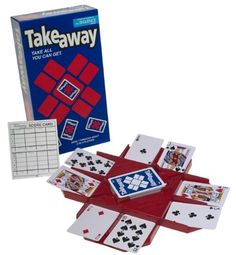 Amazon.com: Takeaway Game: Toys & Games - use your own language card decks with this game. Have them answer a language question from the cards after each turn.