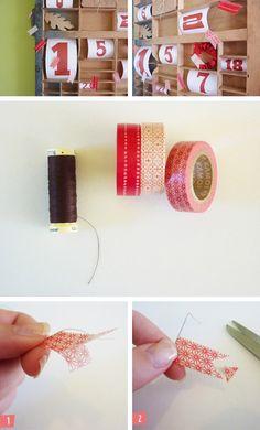 Washi Tape How to / Tutorial Washi tape garland