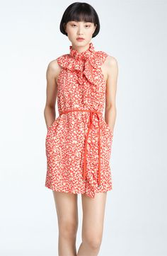 MARC BY MARC JACOBS 'Ando Flower' Ruffle Neck Dress | Nordstrom