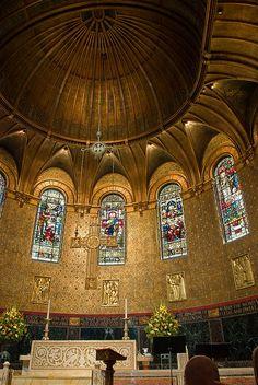 Inside Boston's Trinity Church.
