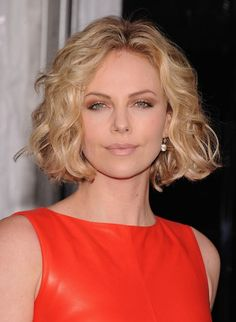 Charlize Theron Curly Bob Hairstyle
