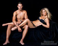 Rafael Nadal and Bar Refaeli for Swimsuit 2012.