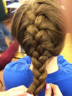 How to make a traditional French braid instructions