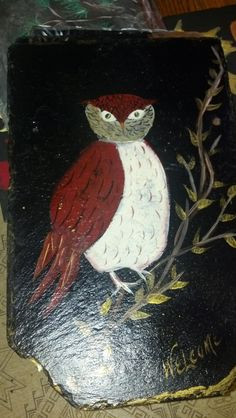 This is my wise owl I painted.