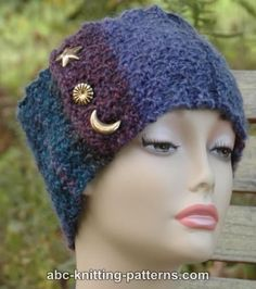 ABC Knitting Patterns - Star and Crescent Head Band