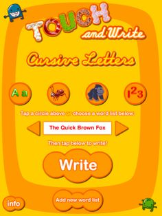 Touch and Write Cursive Letters app