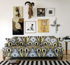 Ikat couch