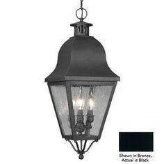 Livex Lighting Amwell 27-1/2-in H Black Outdoor Pendant Light