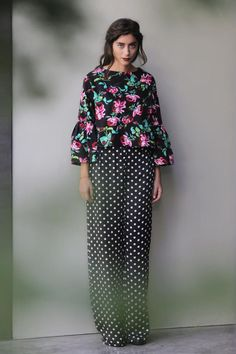 """""""Everybody Be Cool"""" top """"This Is A Robbery high waisted polka dot trousers  Karavan Clothing F/W 14-15"""