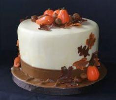 beauti cake, thanksgiving cakes, thanksgiving cake ideas, little cakes, bake, fall cakes, holiday treat, thanksgiv cake, cake embellish