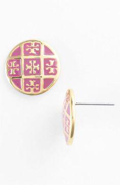 Tory Burch Logo Stud Earrings Love them! ~xx