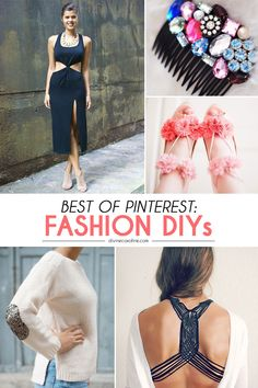 Pinterest is full of amazing DIY projects to pin. We showcase some of the best DIY fashion projects that you will definitely want to get around to this summer #DIY #style