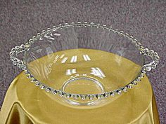 Candlewick Deep Two Handled Serving Bowl candlewick glass, depress glass