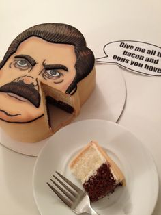 Ron Swanson Cake - Parks and Recreation