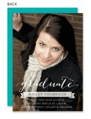 Chic Graduate Photo Graduation Announcement