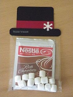Cute idea for classmates, instead of cards. Or for stockings.