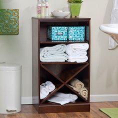 Bathroom storage solution.