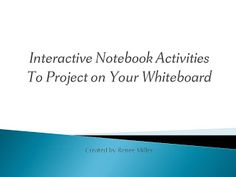IBTEACHNU Language Arts- Fifty free activities to use with your whiteboard. PowerPoint format.