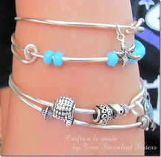 GREAT idea to get teens interested in your jewelry booth  DIY wire bracelet DIY Jewelry DIY Bracelet