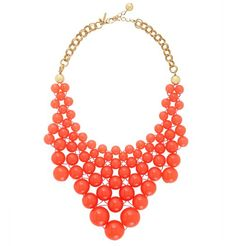 Kate Spade Tangerine Tango Bib Statement Necklace
